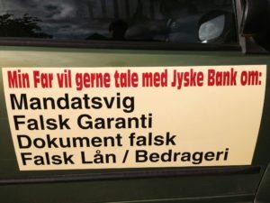 Kunde i jyske bank forsøges råbt op til dialog af bedraget kundes søn - Jyske bank er iskolde Se hvad sagen handler om her klik