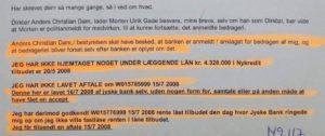 Kunden forsøger opklaring, hvilket jyske bank modsætter sig. - Og jyske bank nægter at svare kunde på DIRÆKTE spørgsmål - Jyske bank nægter kunde aktindsigt - Jyske bank og deres advokater bliver ved med at lyve også i retsforholdet - Kunden giver ikke op Hvad er jyske bank for en bank - Og tilbyder 250.000 kr. I gebyr for en kopi af det påstået lån på 4.328.000 kr. - Jyske bank forsøgte at lokke kunde til møde og vil der lave en anden rente bytte - Føj for pokker og de er den 3 største i Danmark