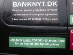 Jyske bank som nægter dialog og ikke vil svare på et enste opråb, Kan se at kunde ikke giver op. - Kunder har nogle spørgsmål til jyske bank