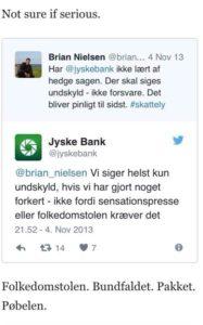 Jyske banken er ligeglad med pressen, og nægter at have stjålet af kassen