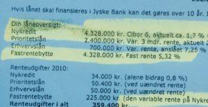 Den bedrageriske og løgnagtige jyske bank, lyver lån i Nykredit på 4.328.000 kr. Som hjemtaget en gang i 2008 eller 2009 Vi ved ikke hvilken dato, spørg jyske bank de må vide det - Nu jyske bank til i dag har hævet omkring 1.5 million kroner i renter