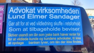 Lund Elmer Sandager bekæmper jyske Banks kunder ved at skjule bilag og løgne