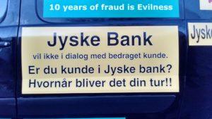 Jyske bank nægter dialog med bedraget kunde Hvornår bliver det din tur til at skulle kæmpe imod jyske bank, for at stoppe svig foretning som vi kæmper