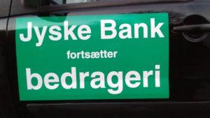 Jyske bank fortsætter svig / bedrageri af deres kunde