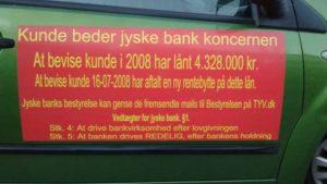 Jyske Banks fundament og vedtægter  - Passer dårligt sammen med den virklige Jyske Banks svig