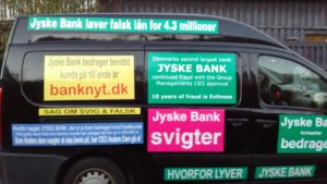 Hvorfor vil jyske bank ikke svare og bevise bankens påstande om et påstået lån, som banken lyver optaget
