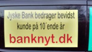 Jyske bank bedrager kunde på 10'ende år, og nægter at tale om det